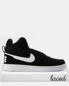 Nike Men's Court Borough Mid Sneakers Black/White