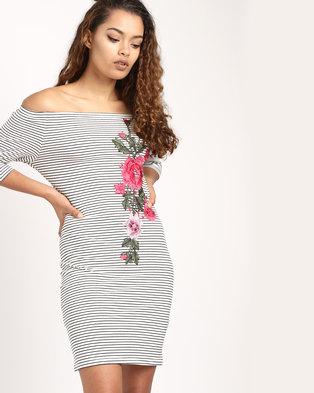 56a1e4c84b6 SassyChic Andrea Dress Stripes Black White