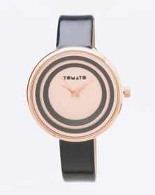 Tomato Dial Watch Navy Rose Gold-tone