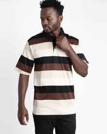 Ballantyne Striped Golfer Brown