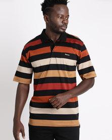 Ballantyne Multi-Striped Golfer Rust