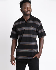 Ballantyne Dark Multi-Striped Golfer Black