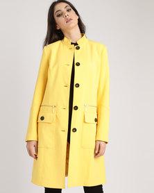 Queenspark Smart Workwear Woven Coat Yellow