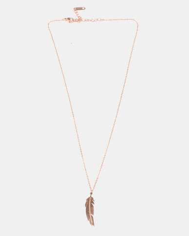 Courtney Cousins Writing Letters Necklace Gold-tone