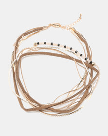 Courtney Cousins Wishing Well Wrap Bracelet Gold-tone