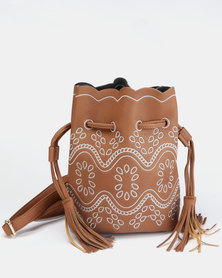 Courtney Cousins Dream Of Me Tassel Bag Brown