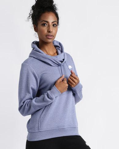 3eca397eddbd Nike Womens Sportswear FNL Fleece Hoodie Purple Slate