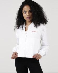 Nike Womens NSW Bomber Jacket Mesh White/Rush Coral