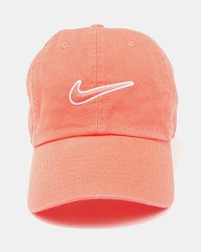 Nike U NK H86 Cap Essential Swoosh Rush Coral