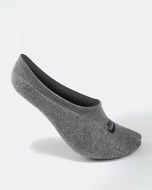 Nike Sportswear Footie Socks 3 Pack Grey