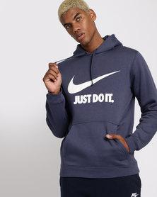 Nike Mens Sportswear Just Do It Pullover Hoodie Blue