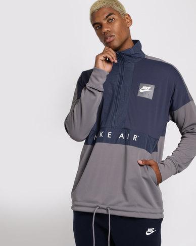 free shipping 5c865 e1b80 Nike Mens Sportswear Top Air Long Sleeve Half Zip Pocket Jacket Multi    Zando