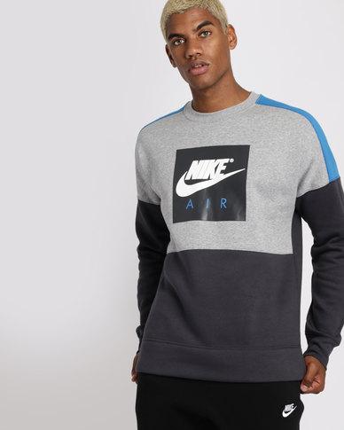 8711a9bfb30e Nike Mens Sportswear Air Fleece Crewneck Sweater Multi