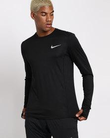 Nike Performance M NK Miler Top LS Black