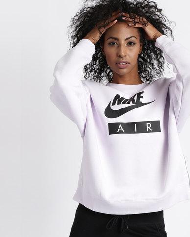 8a5c20168cf6 Nike Womens Sportswear Rally Air Crew Neck Purple   Zando