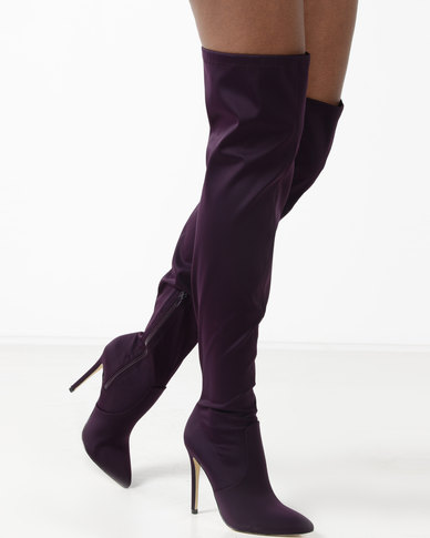 Madison Kenna Over The Knee Boots Wine Red