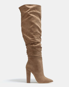 Madison Aubrielle Long Shuffle Boots Taupe