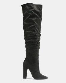 Madison Aubrielle Long Shuffle Boots Black