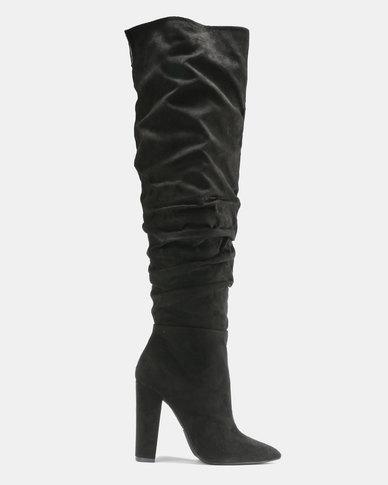6eaa4042873 Madison Aubrielle Long Shuffle Boots Black