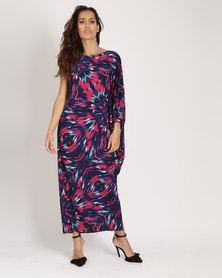 Michelle Ludek Kendall Off Shoulder Dress Winter Print