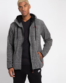 Lizzard Galo Zip Through Hooded Sweatshirt Grey