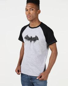Primate Collectables Batman Check Raglan Tee Grey