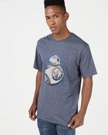 Primate Collectables Star Wars BB8 T-Shirt Melange Navy