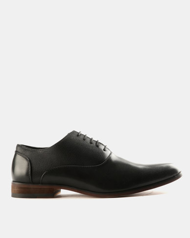 1a12e1d1f005 Utopia Fabric Block Formal Lace Up Formal Shoes Black