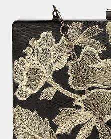 Blackcherry Bag Embroidered Clutch bag Black/Gold