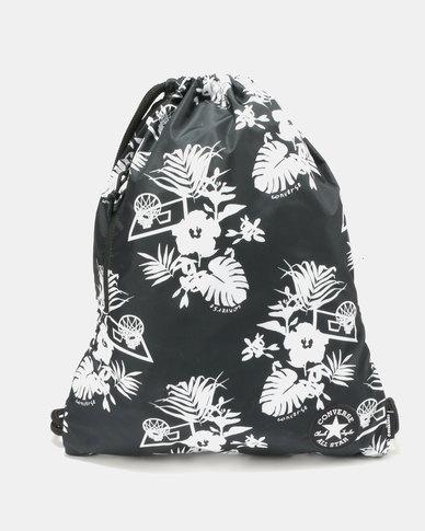 Converse Unisex Cinch Bag Black White  2361caadb3afa