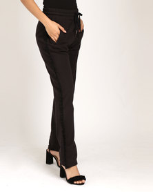 Paige Smith Fleece Pants With Frill Black