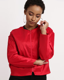Paige Smith Box Jacket Red