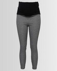 Me-A-Mama Marilyn Miracles Check Leggings Grey