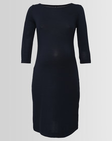 Me-A-Mama Clarice Shift Dress French Navy