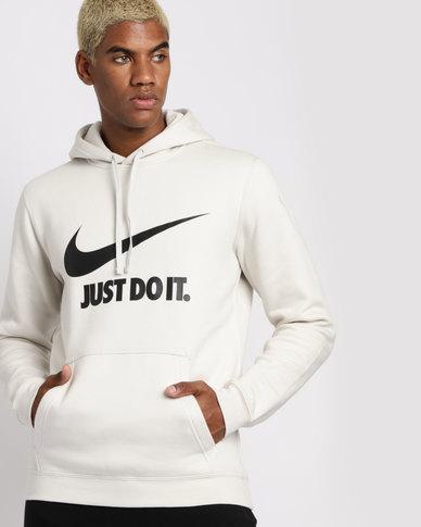 23807dc97e48 Nike Mens JDI Sportswear Pullover Hoodie Bone White