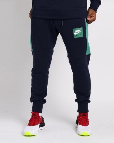 29cc4f36e0bc37 Nike Sportswear Mens Air Fleece Joggers Blue   Zando