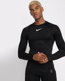 Nike Performance M NP Top LS COMP Black/White/White