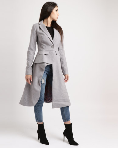 Weartloveit Sailor With Printed Suit Lining Coat Grey
