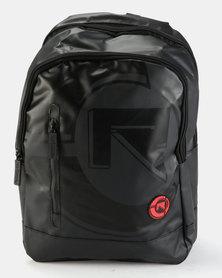 Rocka Stamped Laptop Backpack Black
