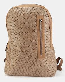 Rocka Puncture Laptop Backpack Beige