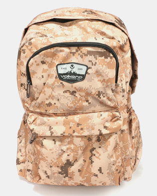 3533a62aea9 Volkano Military Backpack Brown