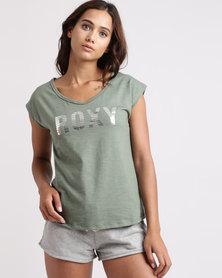 Roxy Hipsy Gipsy Short Sleeve T-Shirt Olive