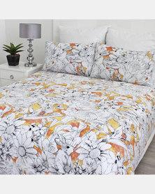 Sheraton Floral Sketch Duvet Cover Multi