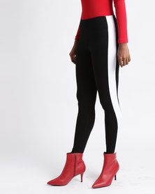Paige Smith Colourblock Leggings Black & White