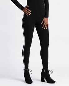 Paige Smith Two Stripe Leggings Black