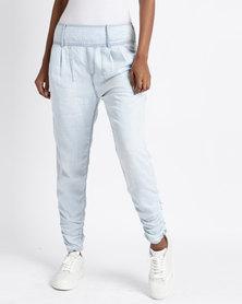 Vero Moda Portmanring 9/10 Trousers Light Blue