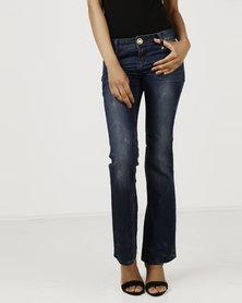 Vero Moda Adam Bootcut Jeans Dark Blue