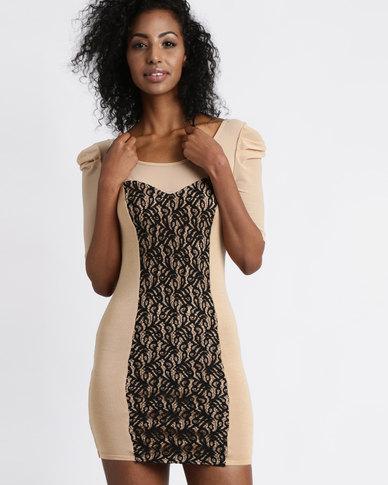 Vero Moda Bice 1/2 Knit Dress Nude