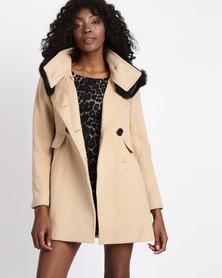 Vero Moda Remit Wool Coat Camel