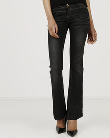 Only Vivian Slim Flare Denims Black